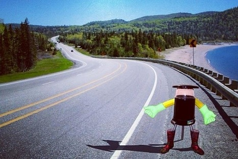 A Hitchhiking Robot Records Summer Road Trip On Social Media - PSFK | Social Media Tutors | Scoop.it