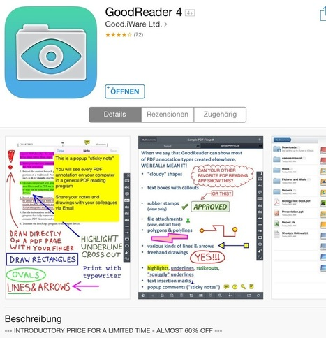 Goodreader 4 zum Einführungspreis | mobile learning in history education | Scoop.it
