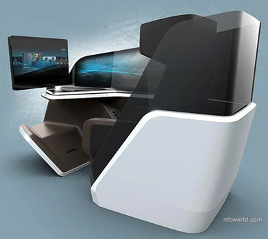 Thales shows off airline seat with NFC | NFC technology | Scoop.it