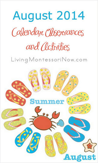 August 2014 Calendar Observances and Activities | Montessori Inspired | Scoop.it