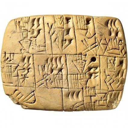 Early writing tablet recording the allocation of beer | Ancient History and Archaeology | Scoop.it