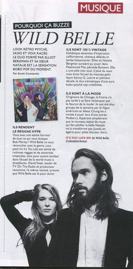 Grazia (07/12/12) | Wild Belle | Scoop.it