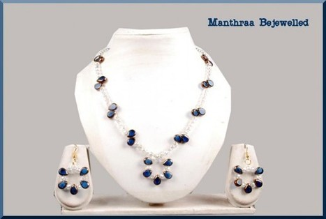 White and Blue Crystals - Craftsia - Indian Handmade Products & Gifts | Indian Handmade Jewelry | Scoop.it
