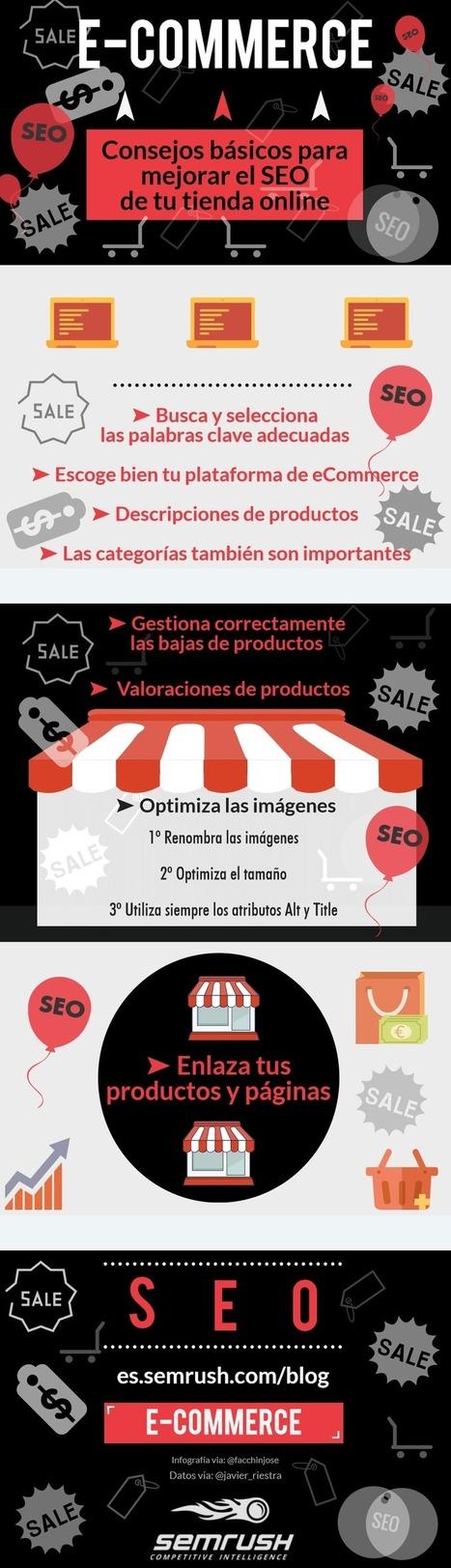 Consejos para mejorar el SEO de tu Tienda Online #infografia #ecommerce #seo   Redes sociales y Social Media   Scoop.it