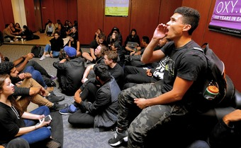 After days of protests, students occupy building at Occidental College - Los Angeles Times | real utopias | Scoop.it