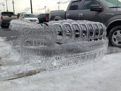 COOL PHOTO:  Front of Jeep frozen in time at Vidant | Weather And Disasters | Scoop.it