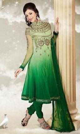 Indian Churidar Salwar Kameez Green Net PR40689002 | Designer Salwar Kameez | Party Wear Salwar Kameez | Bollywood Churidar Salwar Kameez | Scoop.it