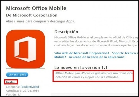 Microsoft ofrece Office para iPhone y Android de forma gratuita | Ideas Estratégicas de Marketing y Comunicación | Scoop.it