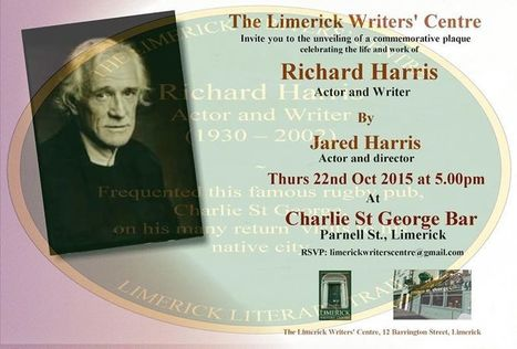 Unveiling of a Commemorative Plaque Remembering Richard Harris | Literature and Music Events | Scoop.it