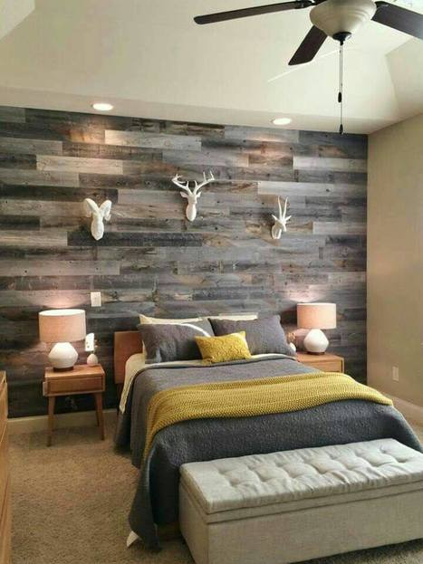 Create a cute plank board wall with Heartwood's reclaimed wood! #reclaimedlumber #heartwood | Heartwood | Scoop.it