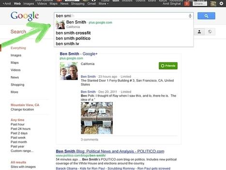 Google Plus Search : polémique de la recherche sociale | DigitalAdvertising | Scoop.it