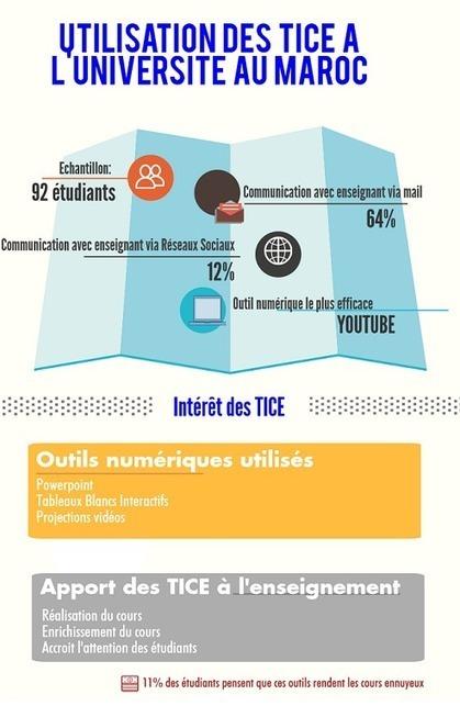 Maroc : étude sur les pratiques TICE dans l'enseignement supérieur et la Formation Professionelle | Edupronet | Education au Maghreb | Scoop.it