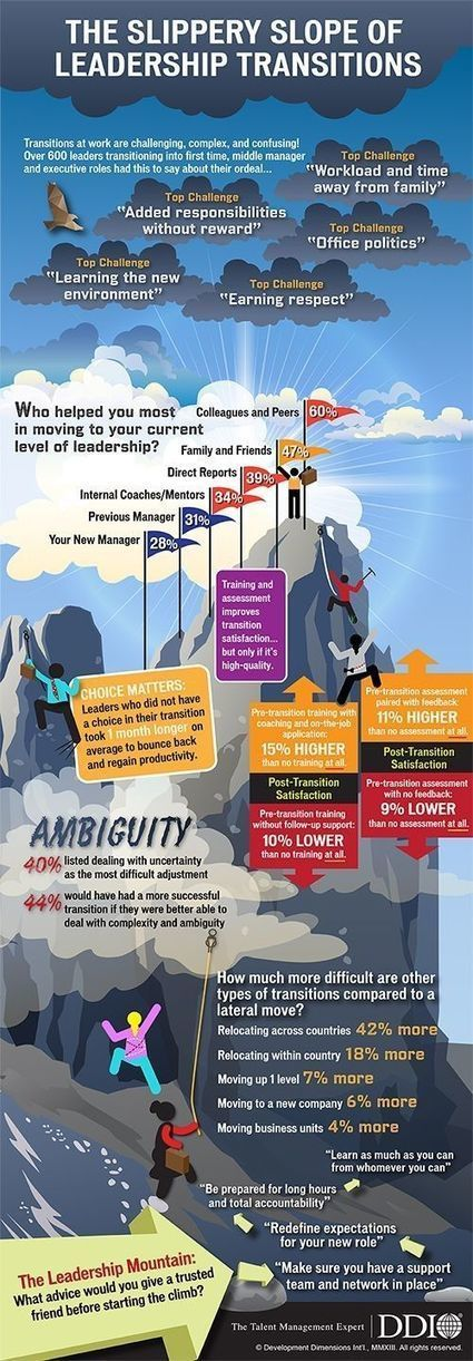 The Slippery Slope of Leadership Transitions [Infographic] | Learning and Working | Scoop.it