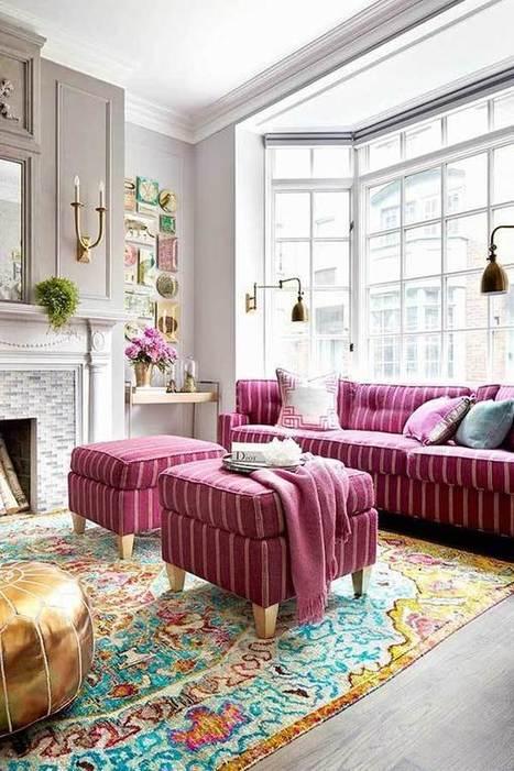 Decoración de salones con sofás rosas. | Mil Ideas | Decoración de interiores | Scoop.it