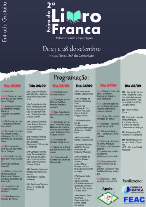 Confira a programação da 2ª Feira do Livro de Franca | Contação De Histórias | Scoop.it