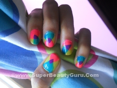 Overlapping Triangle Nail Tutorial - Super Beauty Guru | The Super Beauty Guru | Scoop.it
