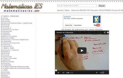 Matemáticas IES: vídeos y ejercicios para aprender matemáticas | Las TIC y la Educación | Scoop.it