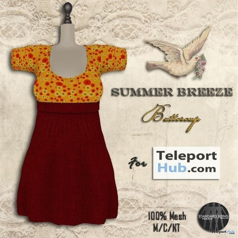 Summer Breeze Buttercup Dress Teleport Hub Group Gift by The Vintage Touch | Teleport Hub - Second Life Freebies | Second Life Freebies | Scoop.it