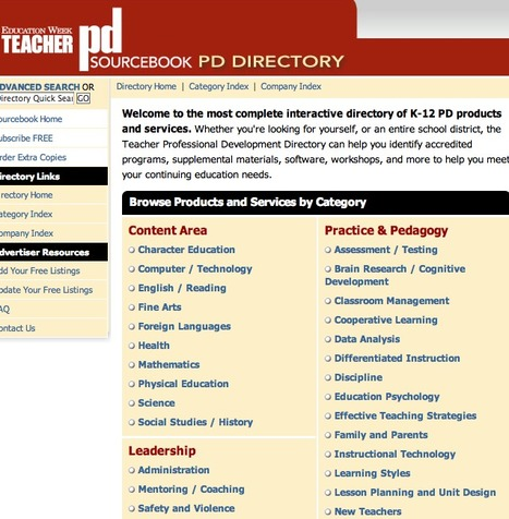 Free PD Resources for Teachers: Teacher Professional Development Sourcebook Directory | BYOD iPads | Scoop.it