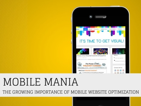 Mobile Mania - The Growing Importance of Mobile Website Optimization [Infographic] | Mobile Marketing | Scoop.it