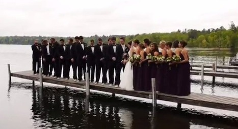 Here is a video of an entire wedding party falling in a lake | wedding videography | Scoop.it