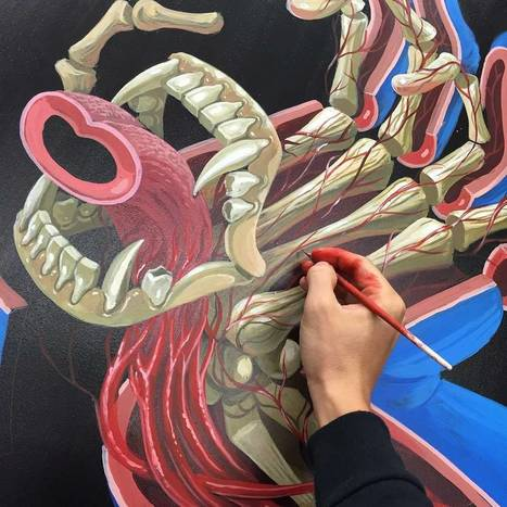 Nychos back in the studio! Old sketch ,new painting - Street I Am | Street Art Planet | Scoop.it