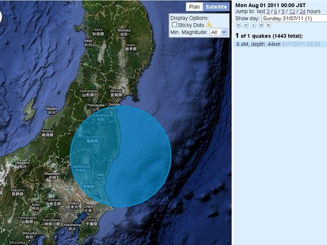 Séisme de 6.4 proche de Fukushima | Japan Quake Map | Japon : séisme, tsunami & conséquences | Scoop.it