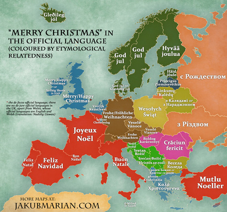 How to say Merry Christmas in different European Languages | Geography Education | Scoop.it