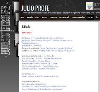JULIO PROFE: Web con Videos de matemáticas y física, explicados paso a paso | Todo sobre Matemáticas | Scoop.it