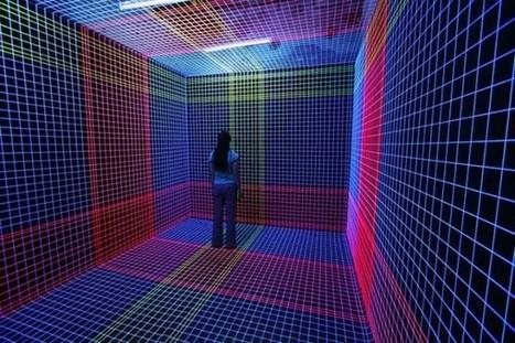 installation art - Jeongmoon Choi's 3D UV Thread Installation | VIM | Scoop.it
