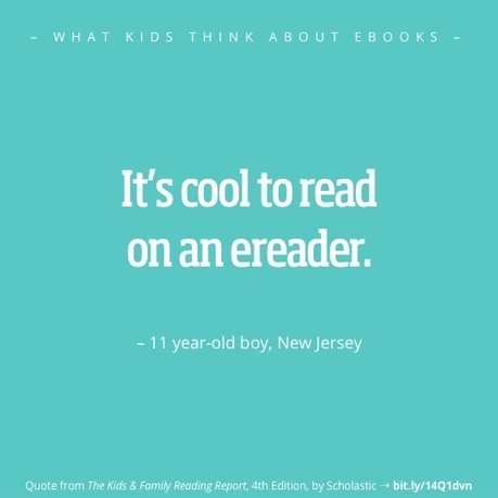 What kids think about ebooks? Here are 12 best quotes - Ebook Friendly | Litteris | Scoop.it