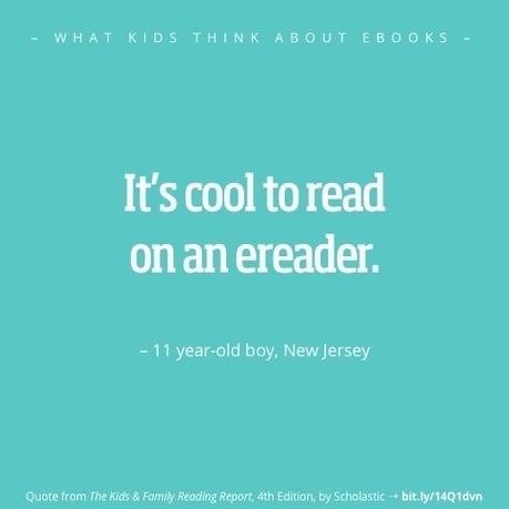 What kids think about ebooks? Here are 12 best quotes - Ebook Friendly | Les enfants et les écrans | Scoop.it