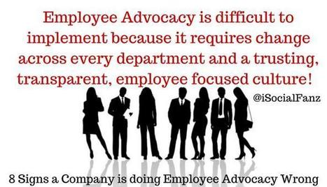 8 Signs a Company is doing Employee Advocacy Wrong | LinkedIn | SocBiz Employee Engagement | Scoop.it