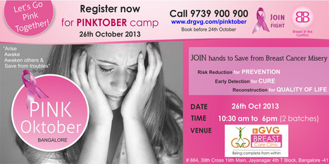 Register Now For Pinktober camp 26th October 2013 | Cosmetic Surgery in Bangalore | Scoop.it