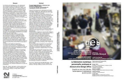 RÉSUMÉ DE MA THÈSE - CAMILLE BOSQUÉ | Fab-Lab | Scoop.it