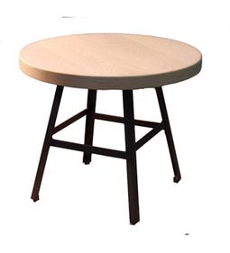 Dadra | Mesas de centro hierro forjado y madera a medida | MESA INDUSTRIAL REDONDA HIERRO Y MADERA DE ROBLE | Mesa de centro  hierro y madera | Scoop.it