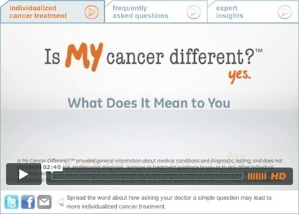 Is My Cancer Different? A Personalized Medicine Campaign | Highlight HEALTH 2.0 | Health and Biomedical Informatics | Scoop.it