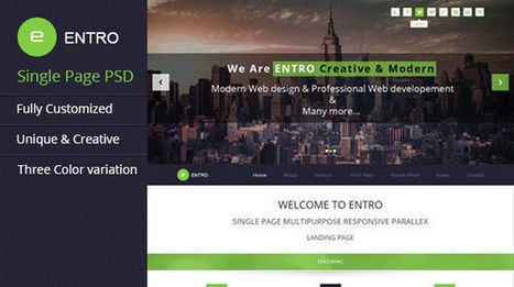 Entro Single page PSD Template - Mojo Themes | Theme PSD | Scoop.it