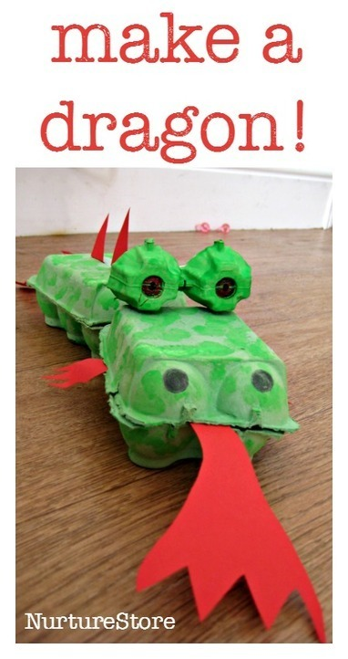 Egg Box Dragon - NurtureStore | Learn through Play - pre-K | Scoop.it