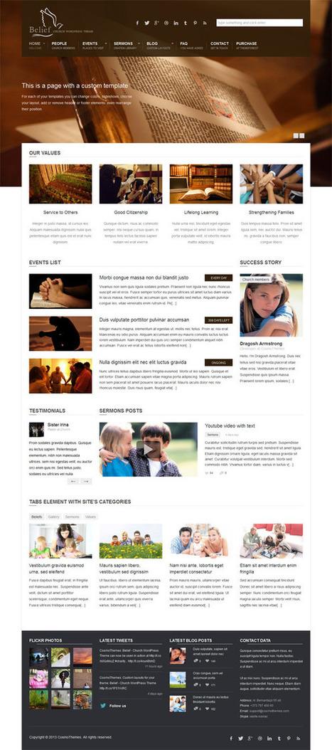 Belief, Premium WordPress Church Theme | WP Download | wendell | Scoop.it