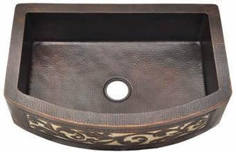 Hammered Farmhouse Copper Kitchen Sink Single Bowl Silver Design (22, 25, 30, 33, 36 inch, Various Colors, 16 Gauge), #CPKS1F_TFR33229DPL   Kitchen Online: Double Bowl Copper Kitchen Sinks  Copper Kitchen Sinks  Copper Kitchen Sink Texas   Scoop.it