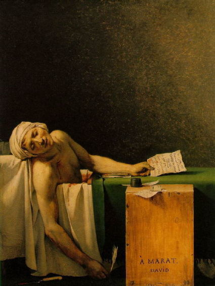"""Visual analysis: """"Death or Assassination of Marat by Jacques–Louis David, 1793"""" explained, 22/07/12, Giulia's blog   Death of Marat   Scoop.it"""