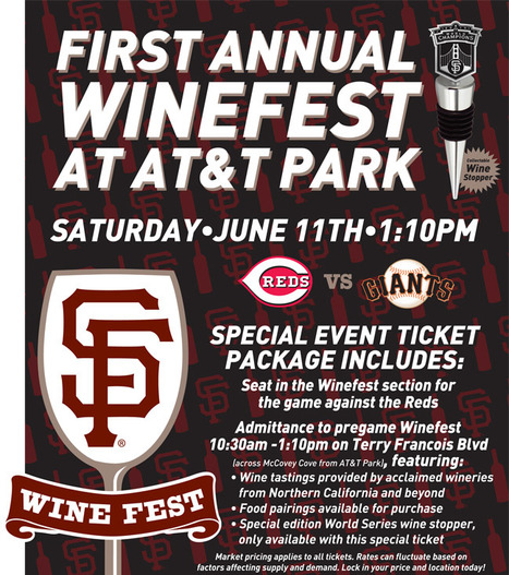 Special Events - Winefest - SF Giants | Bordeaux wines for everyone | Scoop.it