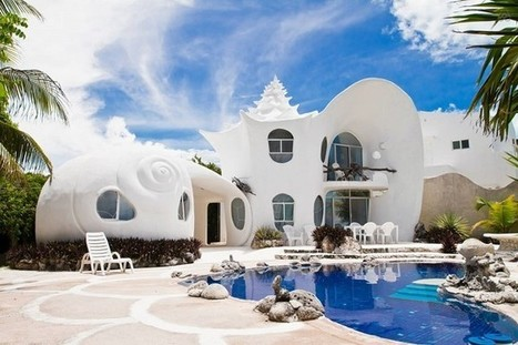 Необычный дом-ракушка на острове Исла-Мухерес в Карибском море   Amuze   Scoop.it