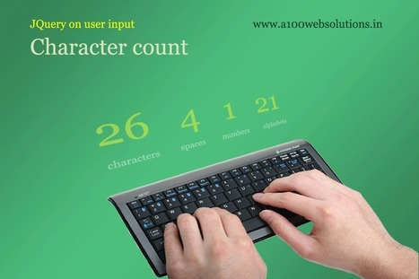 Input character counter using simple JQuery - | JQuery | PHP | HTML5 | CSS3 | AJAX | SEO | Scoop.it