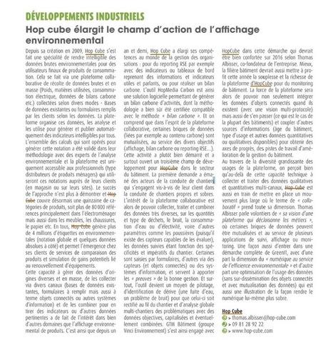 Hop-Cube élargit le champ d'action de l'affichage environnemental   [avniR] : Pensée Cycle de Vie - ACV - éco-conception - affichage environnemental   Scoop.it