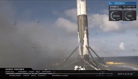 Three in a Row! SpaceX Lands Rocket on Ship at Sea Yet Again | Heron | Scoop.it