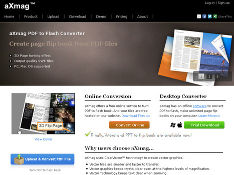 aXmag - Page Flip Magazine software, PDF to Flash Converter | Computer4all-of-you | Scoop.it
