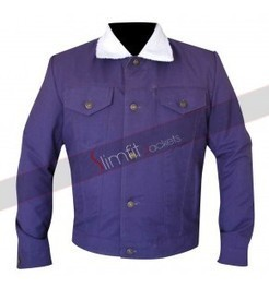 Slim Fit Men Purple Cotton Jacket | Motorcycle Leather Jackets For Men and Women | Scoop.it