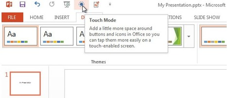Touch Mode in PowerPoint 2013 | Technology and Education Resources | Scoop.it